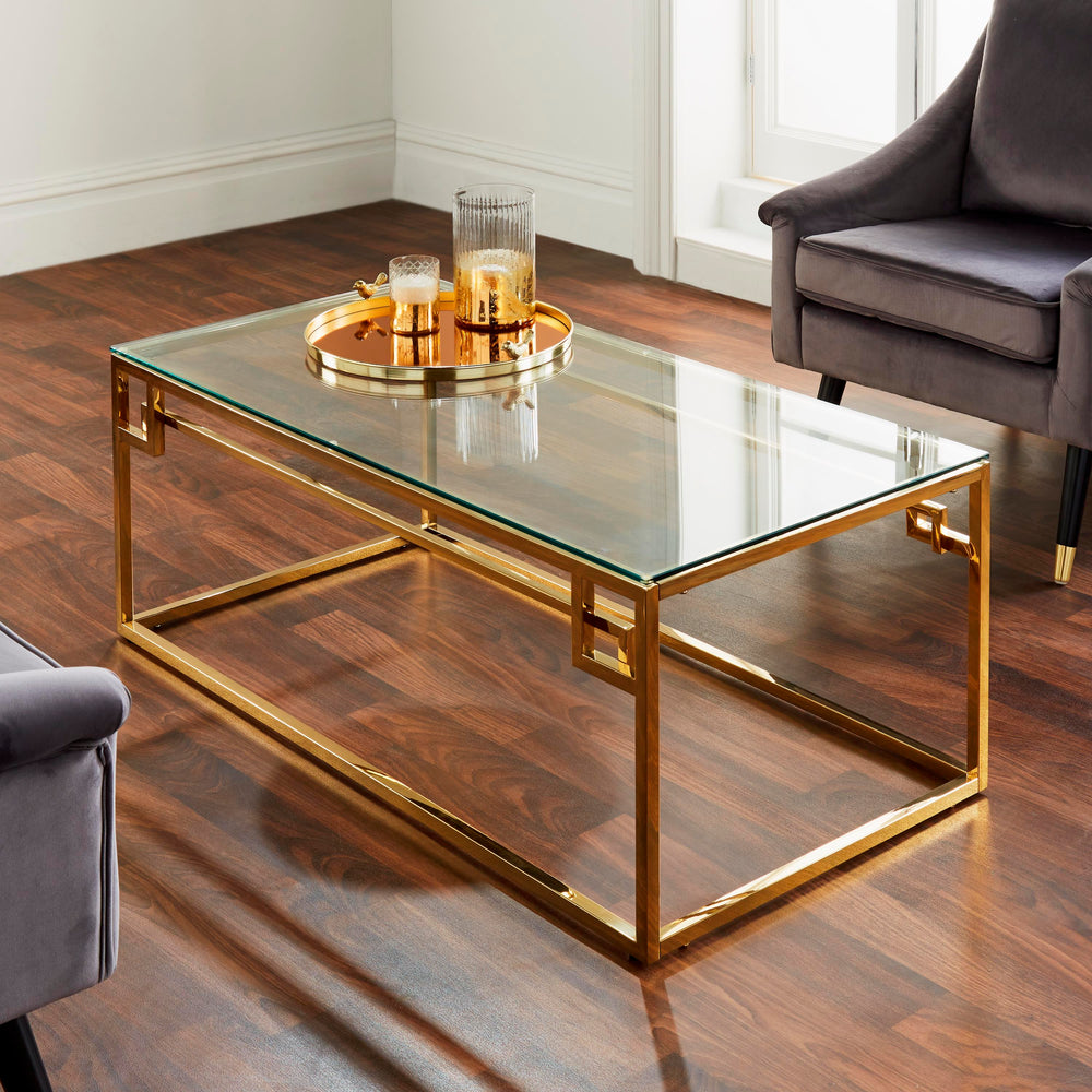 Cesar Gold Plated Coffee Table