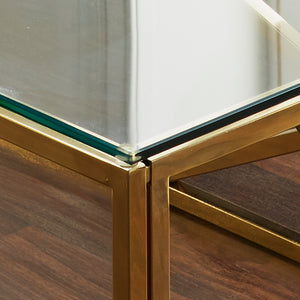 Geometric Gold Plated Coffee Table