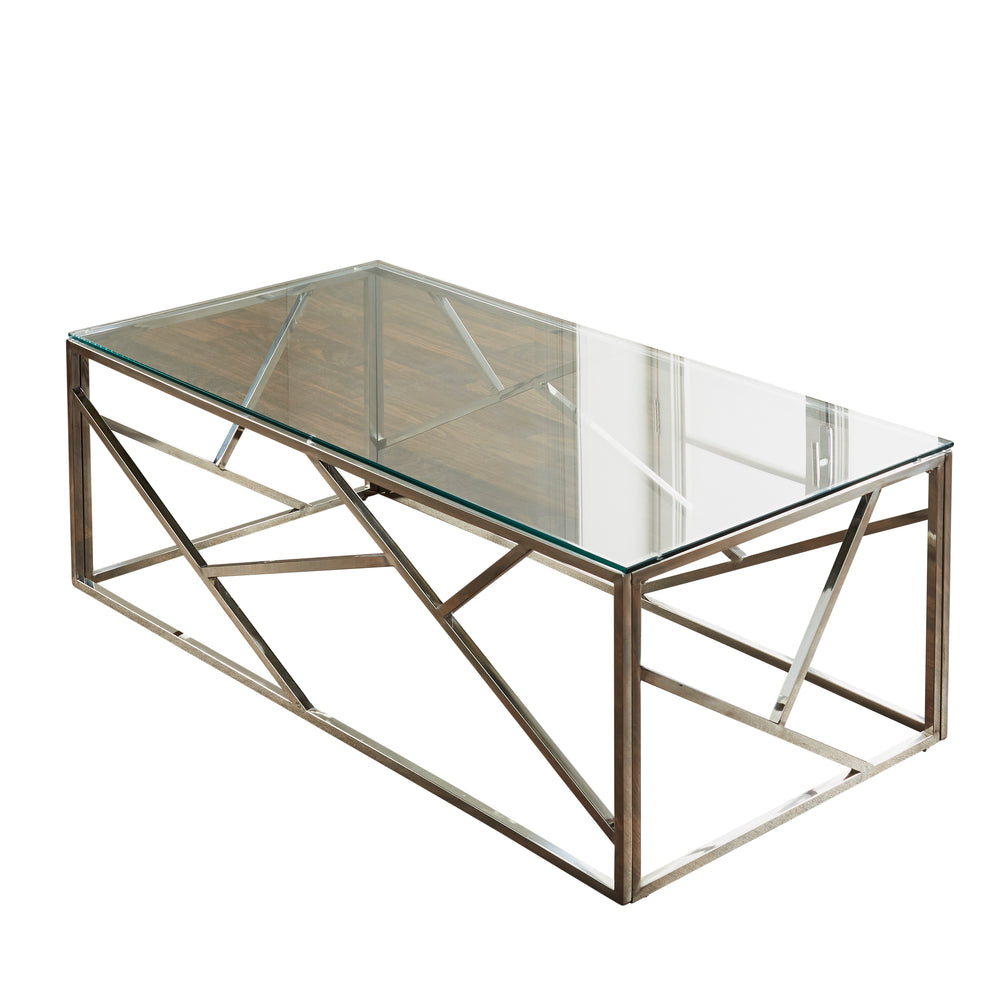 Geometric Silver Coffee Table
