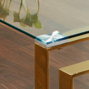 Milano Golden Plated Coffee Table