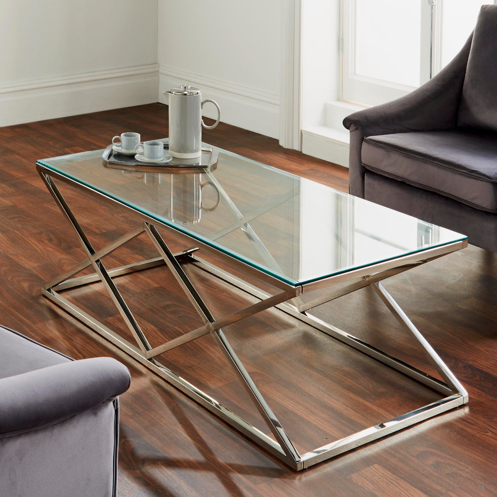 Pyramid Silver Coffee Table