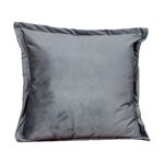 Snakeskin Textured Grey Velvet Cushion