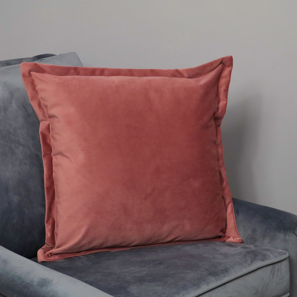 Rose Velvet Cushion - Feather Filled
