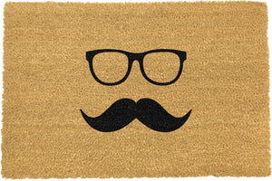 Mustache & Glasses Doormat