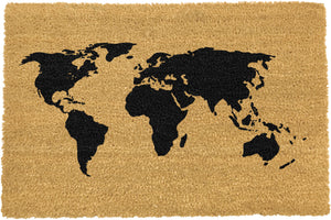 World Map Doormat