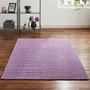 Handwoven Purple Jute Rug 150x240cm
