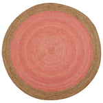 Milano Soft Jute Rug with Pale Pink Centre