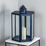 Indoor Outdoor Blue Lantern