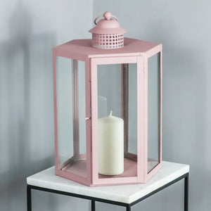 Indoor Outdoor Pale Pink Lantern