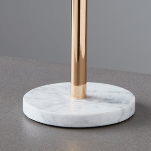 Gold Finish Mirror with Marble Base