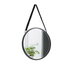 Round Mirror with Leather Strap