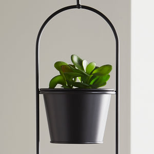 Small Duo Black Hanging Plant Holder