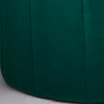 Round Deep Green Plush Stool