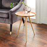 Side Table Pink Enamel Tray
