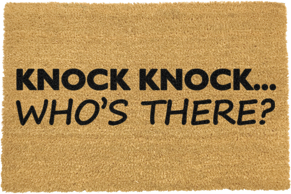 Knock Knock who's there doormat