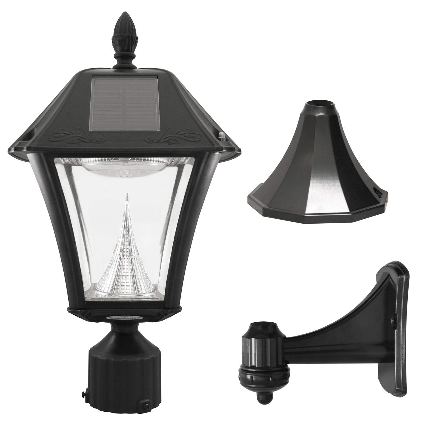 Gama Sonic Baytown II Solar Light with Wall,Post,Fitter Mounts, GS-105FPW