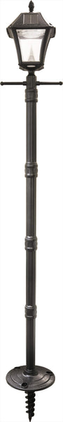 Gama Sonic Baytown II Solar Light Post w/ EZ Anchor Screw-in Base, GS-105S-G