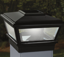 Deckorators Solar VersaCap Solar LED Deck Post Light