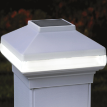 Deckorators Solarband VersaCap Solar LED Deck Post Light