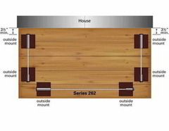 Ultra-Tec Solid Wood Post Application 262 Series Kit