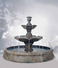 Henri Studio Final Spill Fountain in Crested Pool