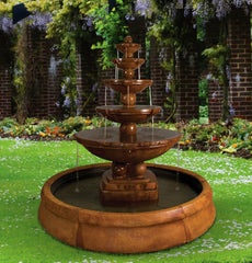 Henri Studio Spheres Fountain in Crested Pool