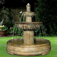 Henri Studio Fluted fountain in Grando Pool