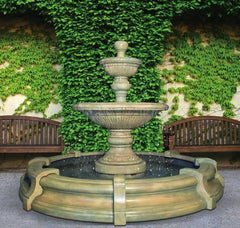Henri Studio Traviata Two-Tier Fountain in Toscana Pool