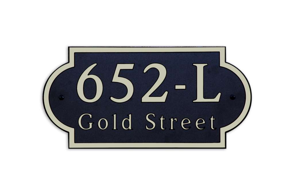DekoRRa Address Plaque, Model 652 (Custom Engraving Included)