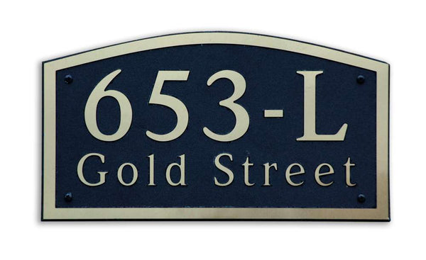 DekoRRa Address Plaque, Model 653 (Custom Engraving Included)