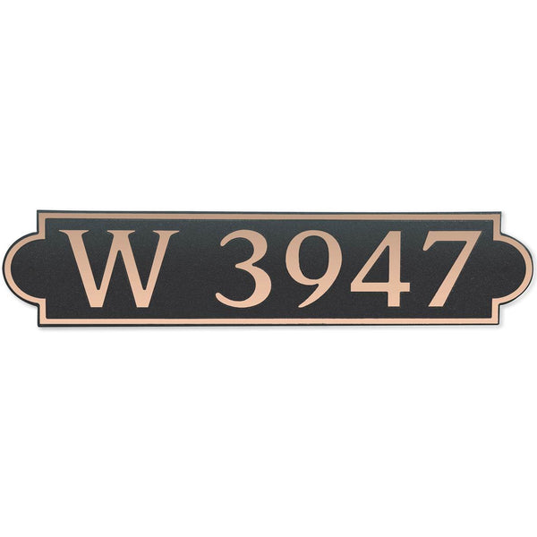 DekoRRa Address Plaque, Model 657 (Custom Engraving Included)