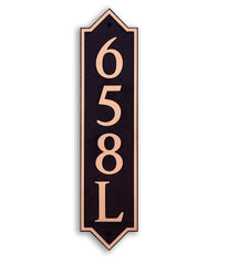 DekoRRa Address Plaque, Model 658 (Custom Engraving Included)