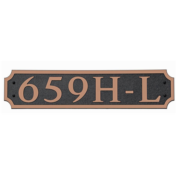 DekoRRa Address Plaque, Model 659 (Custom Engraving Included)