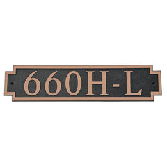 DekoRRa Address Plaque, Model 660 (Custom Engraving Included)