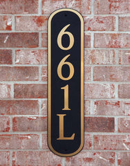 DekoRRa Address Plaque, Model 661 (Custom Engraving Included)