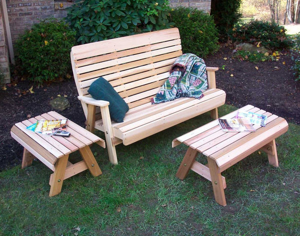 Creekvine Design Cedar Twin Ponds Bench Set