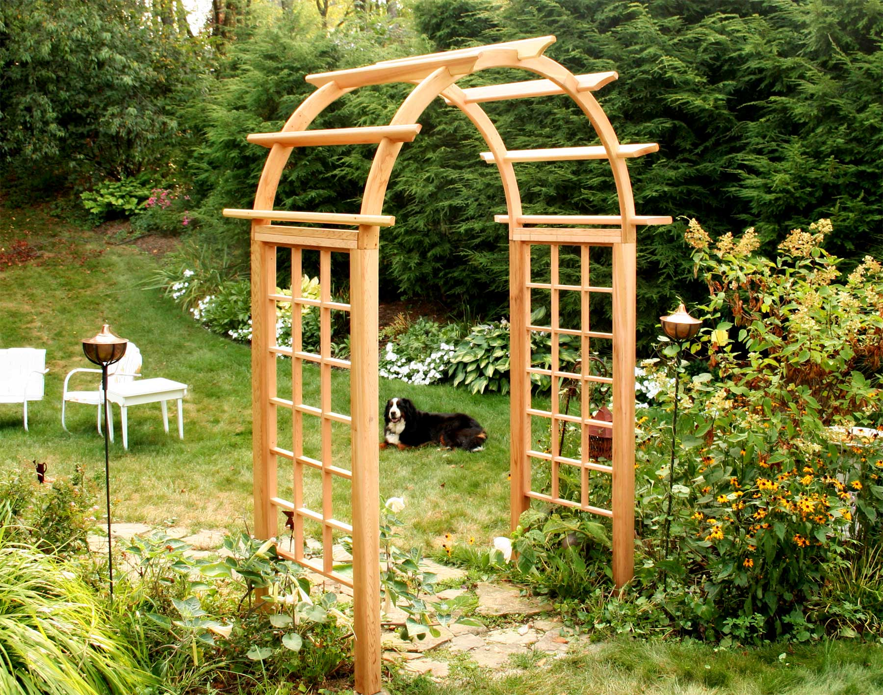 Creekvine Designs Cedar Arched Arbor