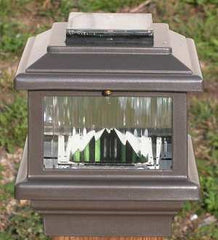 Aurora Polaris Solar LED Deck Post Light