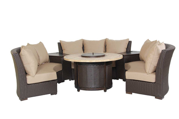 Patio Resort Lifestyles Bermuda 6 Piece Circular Sofa Set