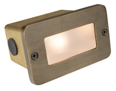 Corona Lighting Brass Lensed Step Light Cl-363B