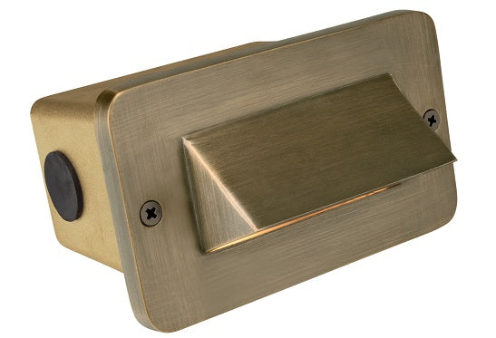Corona Lighting Brass 1 Louver Step Light Cl-364B