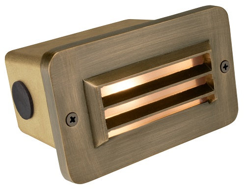 Corona Lighting Brass 3 Louver Step Light Cl-365B