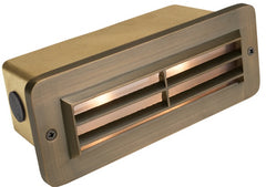 Corona Lighting Brass 3 Louver Brick Light Cl-370B