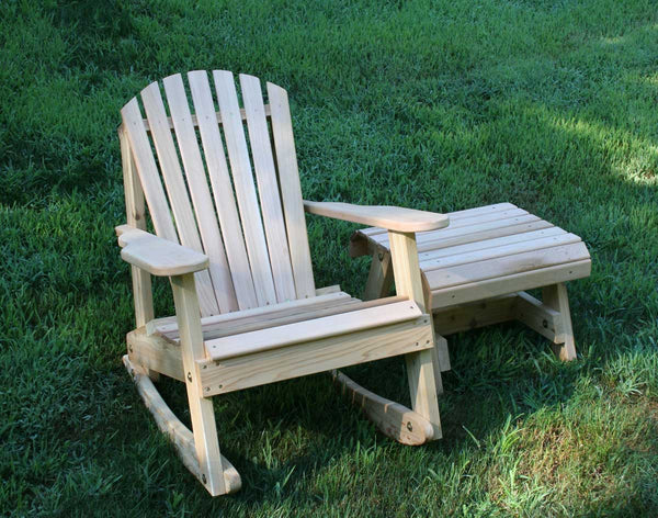 Creekvine Designs Cedar American Forest Adirondack Rocker & Side Table