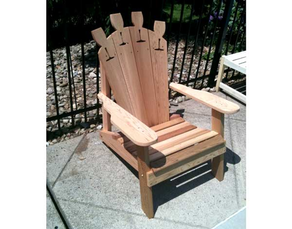 Creekvine Designs Cedar Wine Glass Adirondack Chair