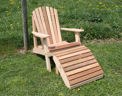 Creekvine Designs  Cedar American Forest Adirondack Chair & Footrest