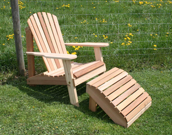 Creekvine Cedar Adirondack Chair & Footrest