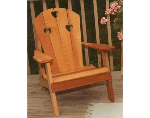 Creekvine Designs Cedar Country Hearts Adirndack Chair