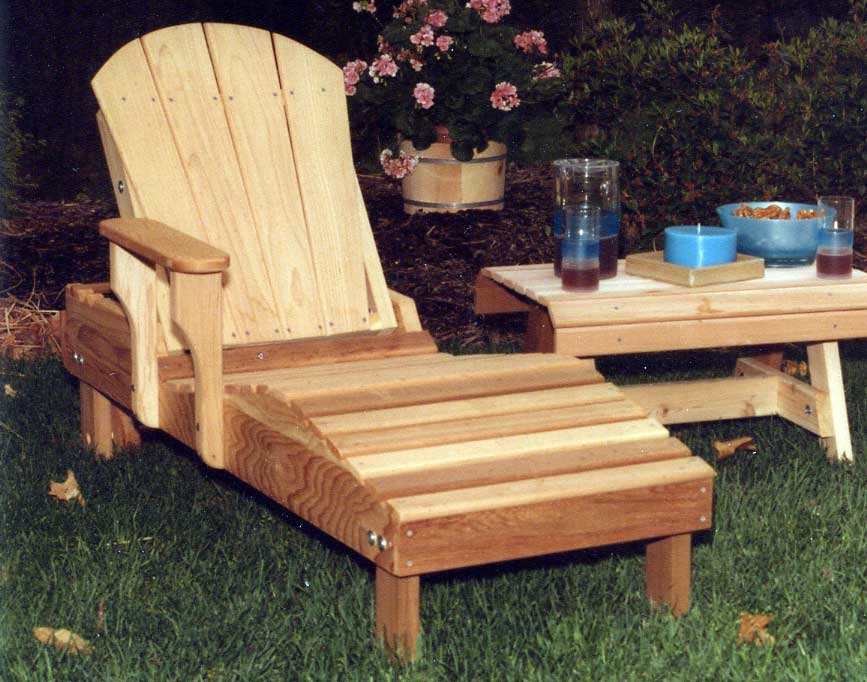 Creekvine Designs Cedar Adirondack Chaise Lounge