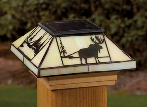Deckorators Northwoods Tiffany-Style Solar Deck Post Light